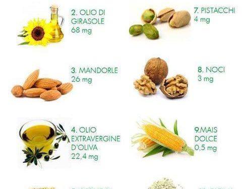 I dieci alimenti più ricchi di vitamina E