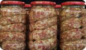 Salsiccia di maiale sott'olio P.A.T. - per la foto si ringrazia