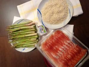 Risotto agli asparagi con speck e robiola