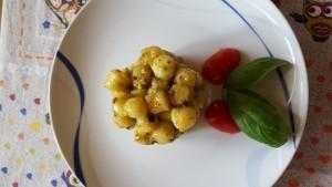 Chicche al pesto di pistacchi