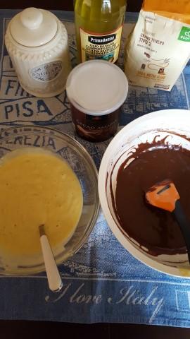 Tortine bicolori allo yogurt bicolori