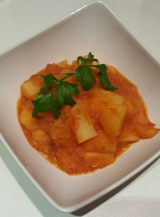 Patate in salsa rossa