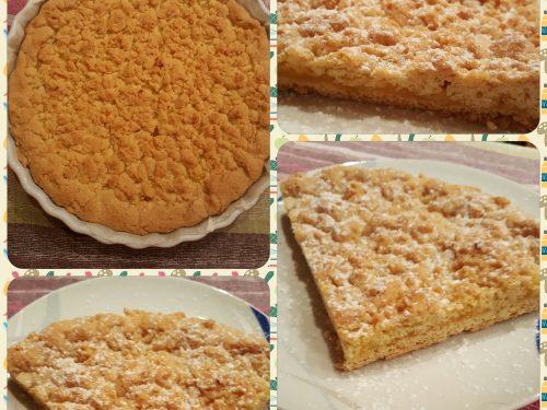 Crostata farcita con crema al limone