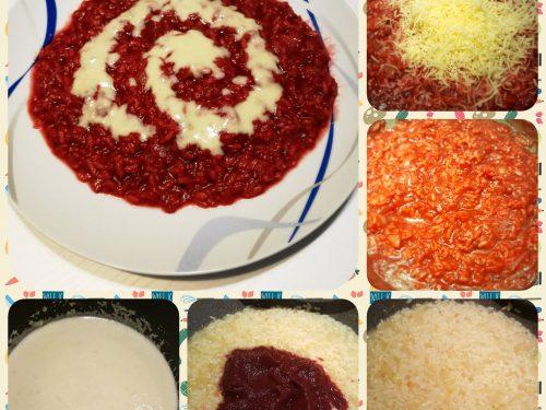 Risotto alla barbabietola e crema di gorgonzola