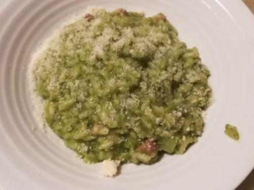 Risotto broccoli, pancetta e zola (by Beppe)