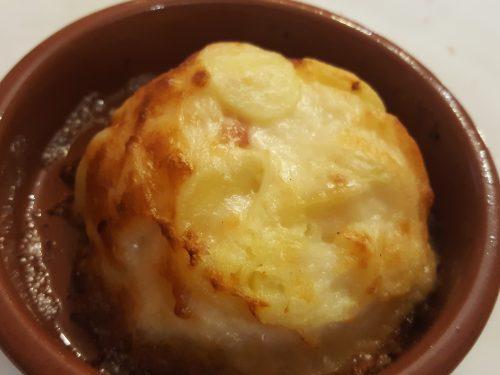 Tortino di patate, speck e porri
