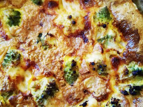 Torta salata di broccoli e provola piccante