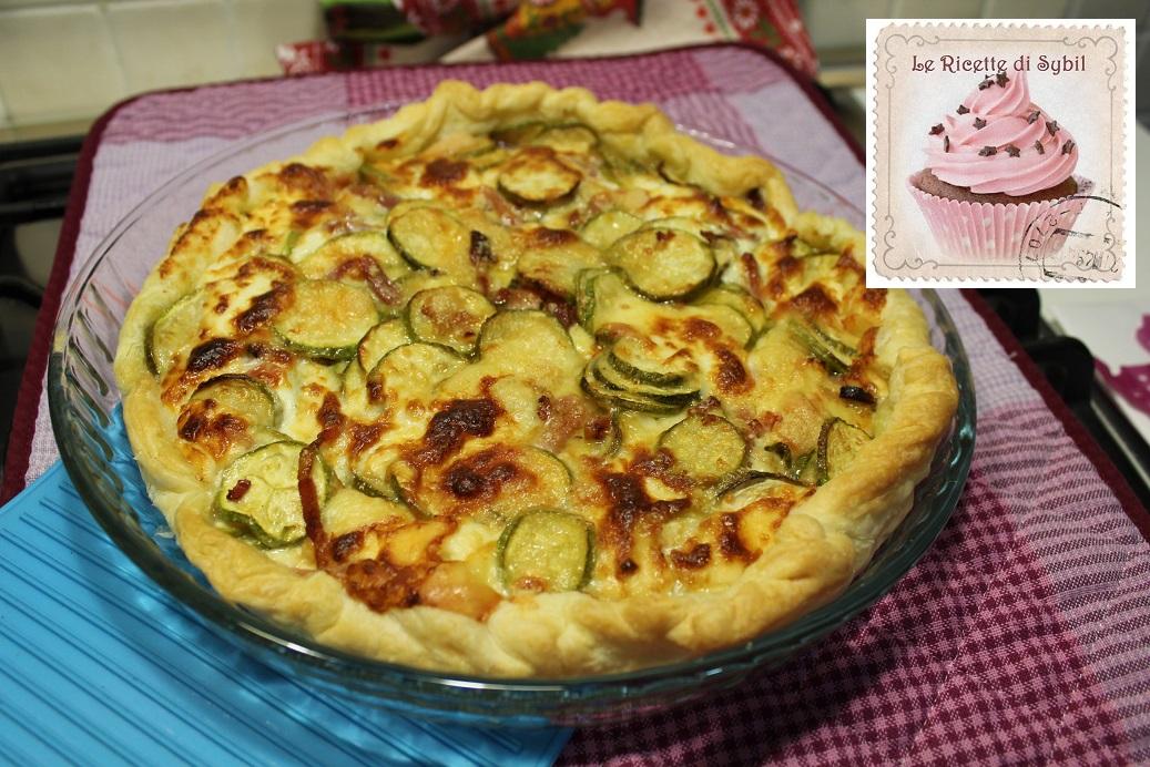 Torta Salata con Zucchine, Speck e Stracchino
