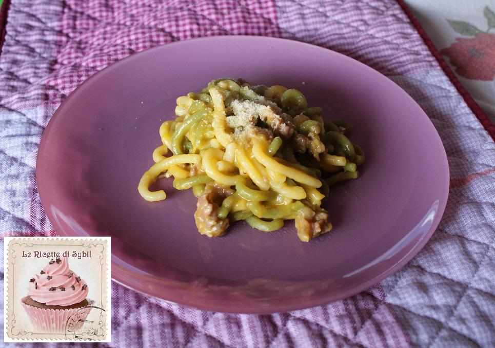 Gramigna con Salsiccia e Zucca Cremosa