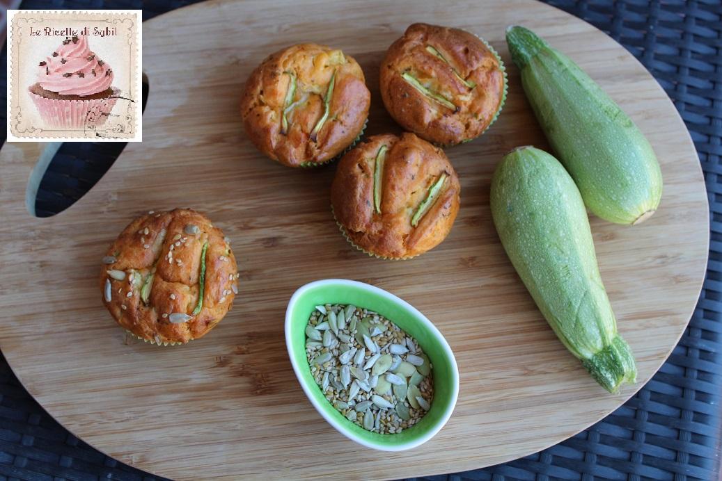 Muffins Salati Rustici alle Zucchine