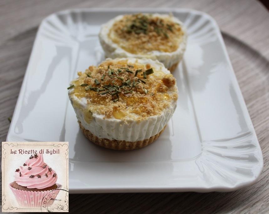 Mini Cheesecake Salata al Gorgonzola e Miele