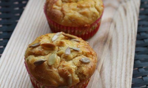 Muffins Salati con Cotto al Forno e Cheddar