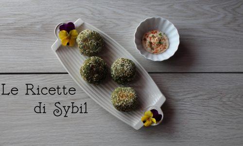 Crocchette di Spinaci con Cotto e Sesamo