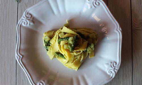 Pappardelle con Asparagi e Patate