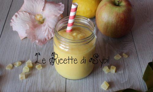 Smoothie con Mela, Mango, Limone e Zenzero senza lattosio