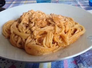 Spaghetti con filetti di sogliole
