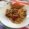 Spaghetti con granchio blu.