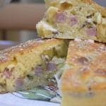 Torta salata funghi, cotto e scamorza