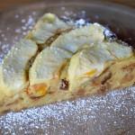 Torta di mele con panettone e arancia