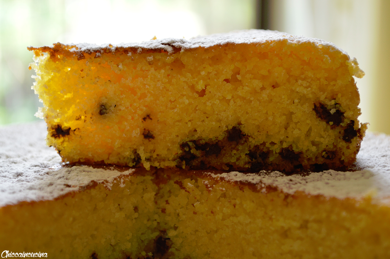 Torta farina di mais e cioccolato