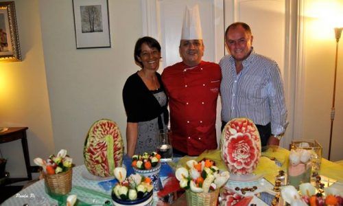 Il corso di intaglio dell'excutive chef Luca Borghini