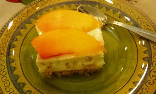 Cheese cake fredda alle pesche