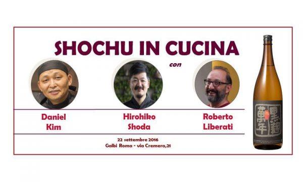 Shochu in Cucina al Ristorante Galbi di Roma