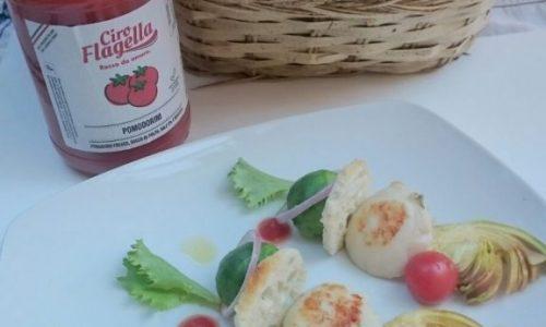 Capesante grigliate con verdure e pomodori ciliegino Flagella