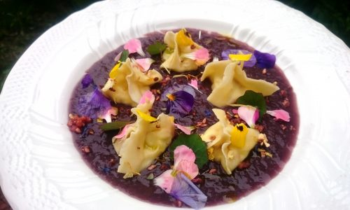 Ravioli di garofani e viole