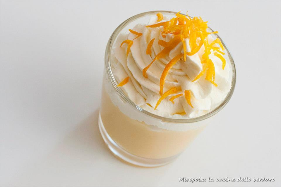 Crema pasticcera agli agrumi con chantilly al limone