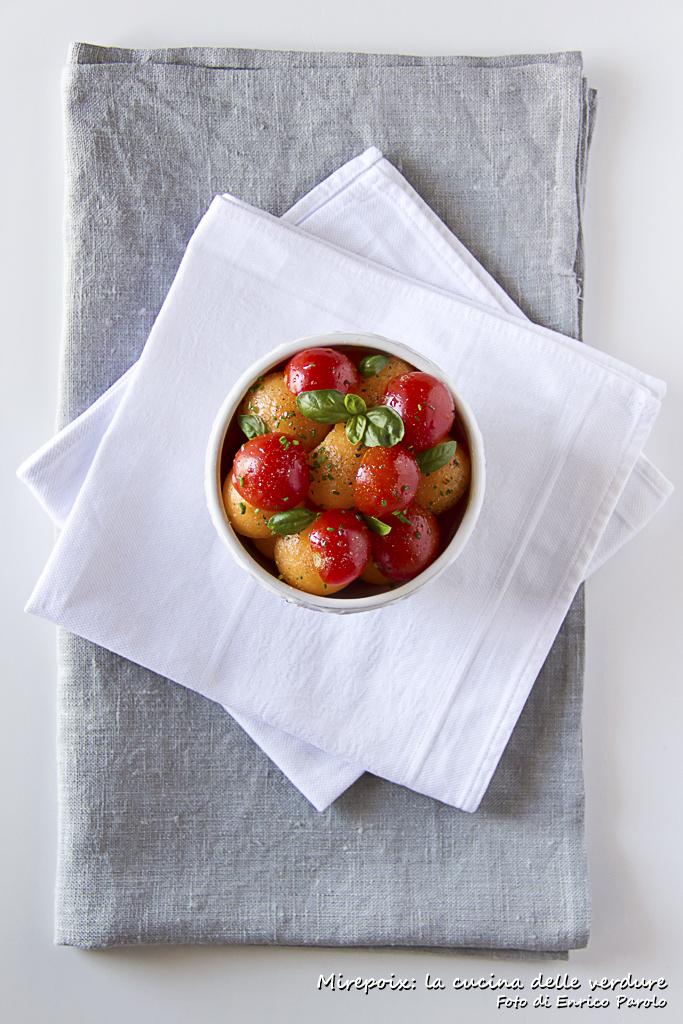 Insalata di pomodorini e melone.