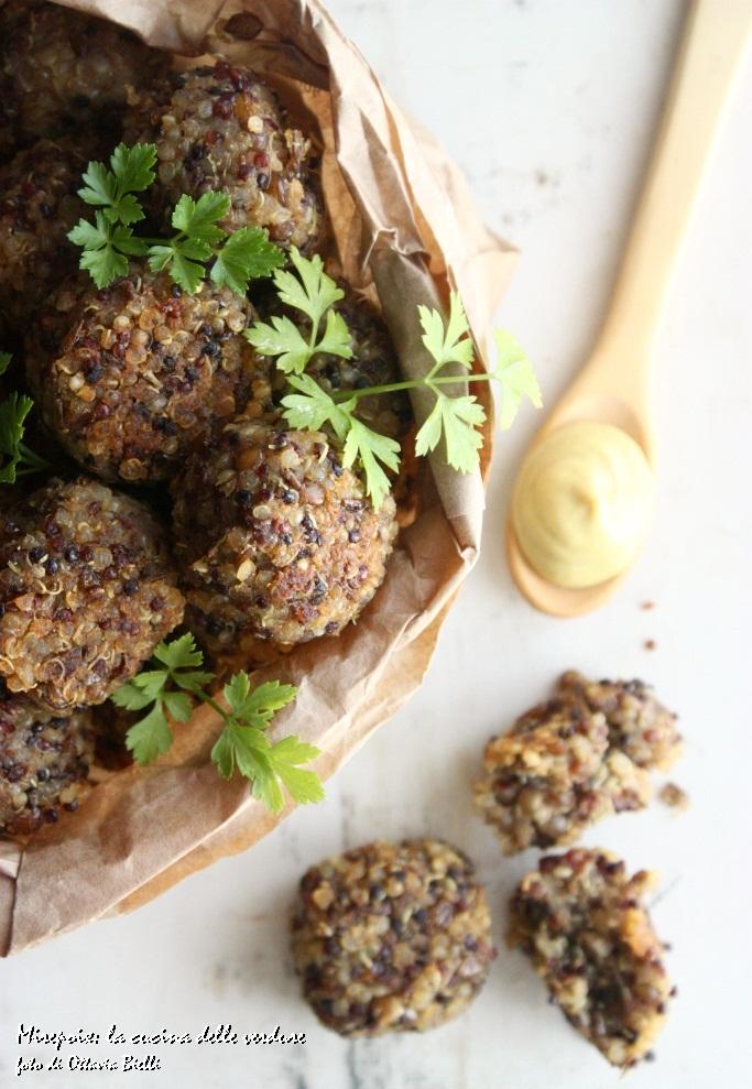 Polpette di quinoa e lenticchie
