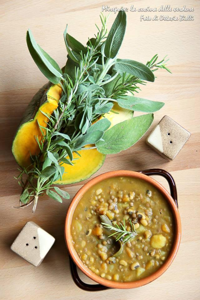 Zuppetta di legumi e zucca