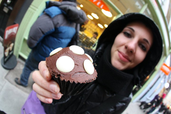 London double chocolate cupcake