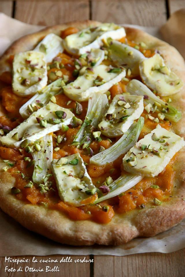 Pizza zucca, cipllotti e brie