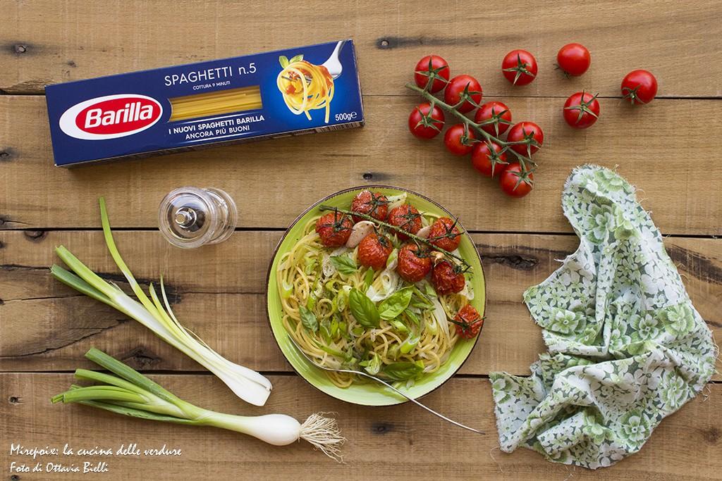 Spaghetti ai cipollotti