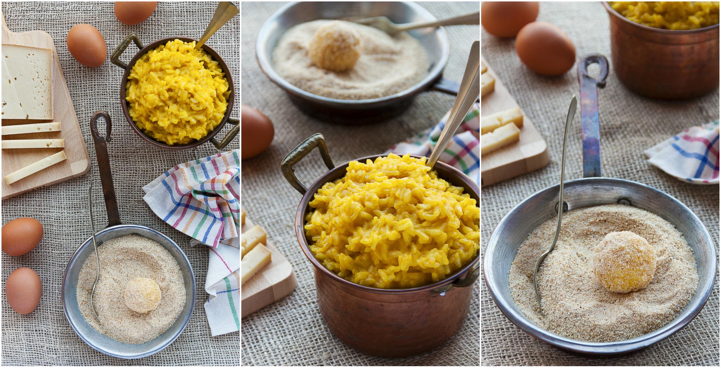 Polpette di riso alla zucca e toma