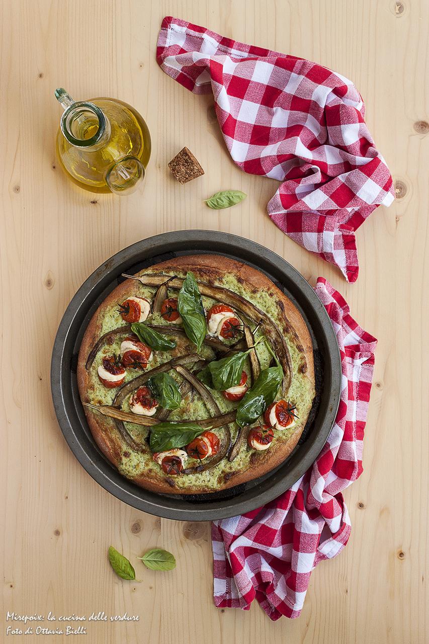 Pizza al farro dopo la cottura