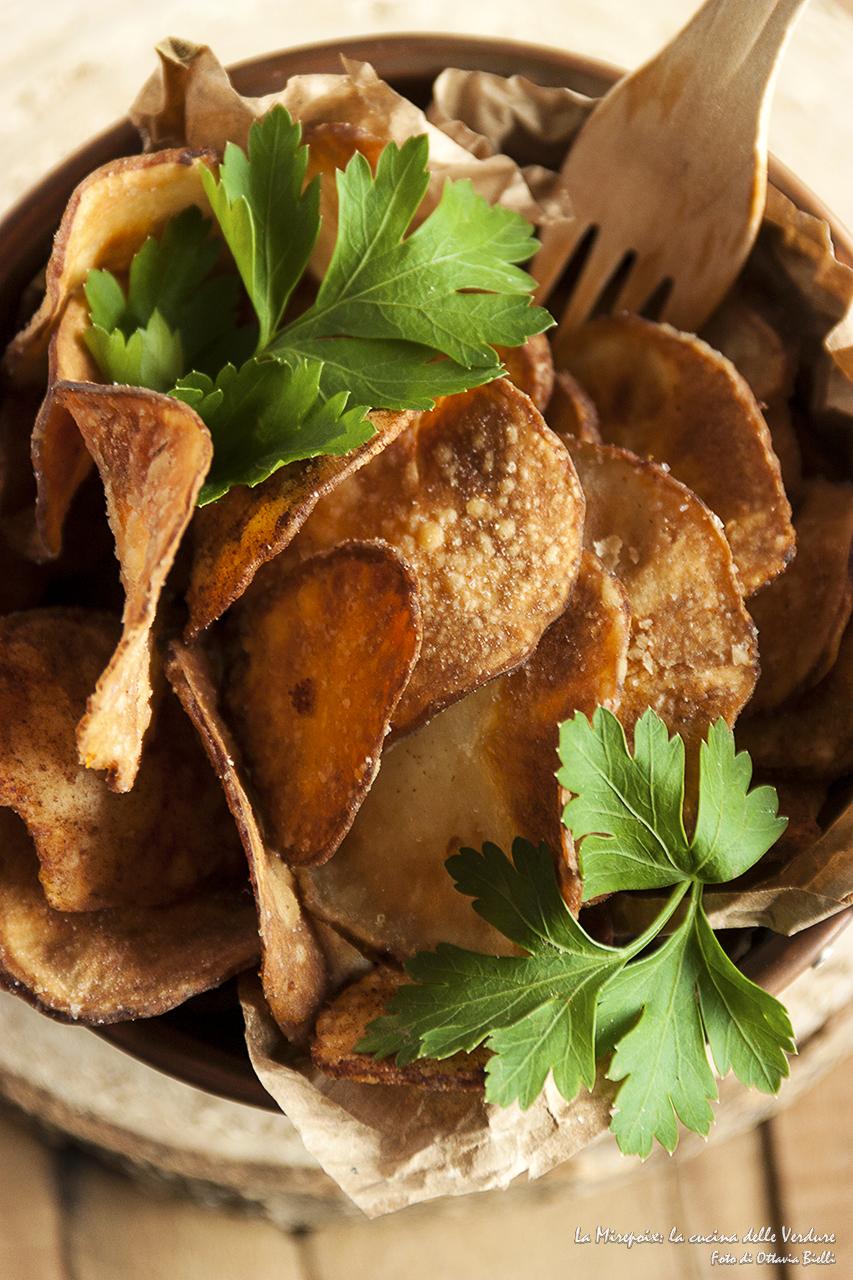 Chips di topinambur dettaglio