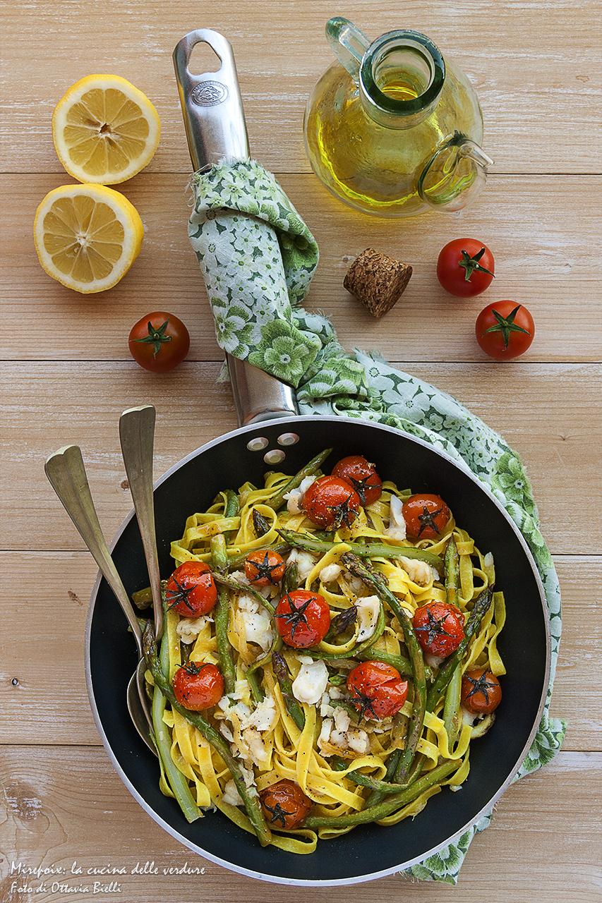 Tagliatelle agli asparagi in padella