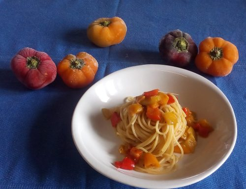 Spaghetti al gusto bagna cauda