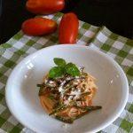 Dalla Basilicata: Spaghetti con fagiolini, pomodori e cacio ricotta