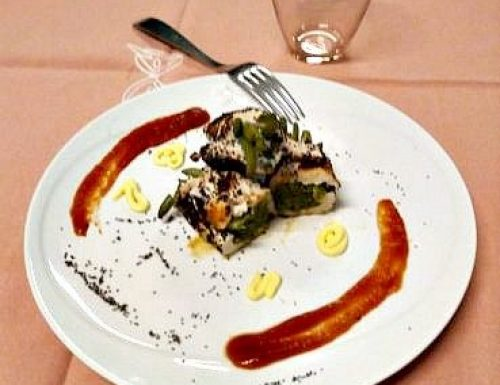 Involtini di pollo e fagiolini al sale blu di Persia