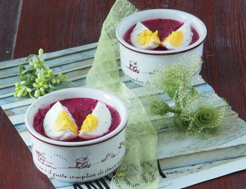 Dalla Polonia:Chlodnik (zuppa fredda di barbabietole)