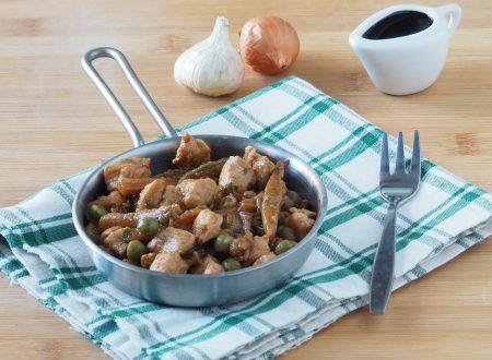 Petto di pollo con verdure e salsa di soia