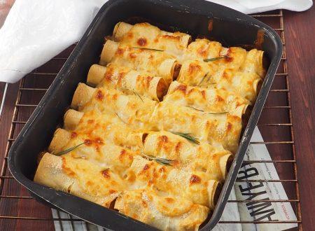 Cannelloni ripieni di zucca e salsiccia