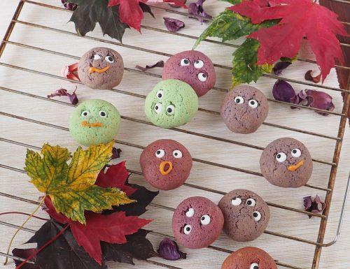 Biscotti colorati con occhi (Halloween)