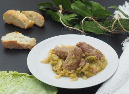 Salamella e verza in padella