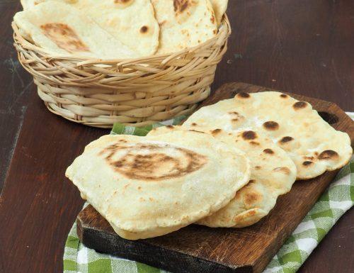 Pane di Naan senza lievito