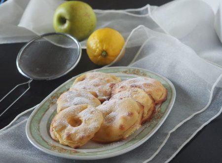 Frittelle di mele al forno con pastella al limone